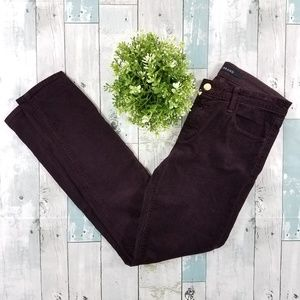 J. Brand Blackberry Skinny Corduroy Pants Size 27